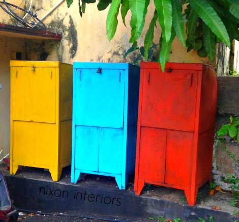 mail boxes in city of Galle Sri Lanka
