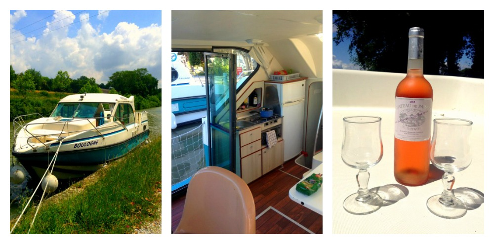 our boat and living quarters on the Canal Du Midi, France