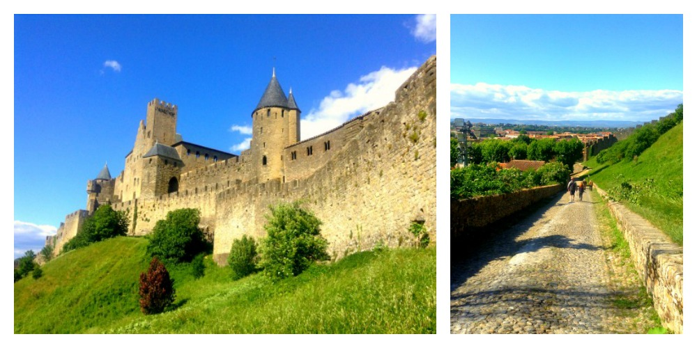 famous fortified city of Carcassonne, France