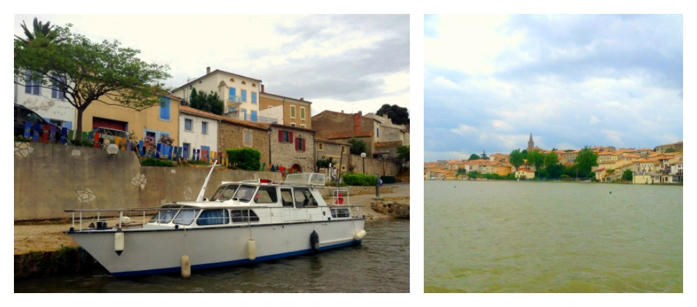 towns on Canal Du Midi during our boating holiday in France