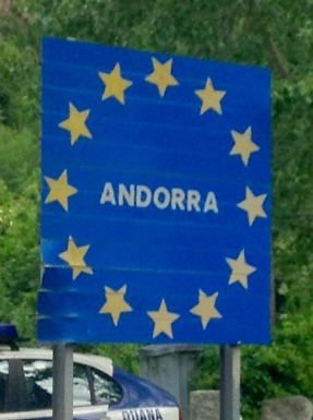 Andorra Country Sign