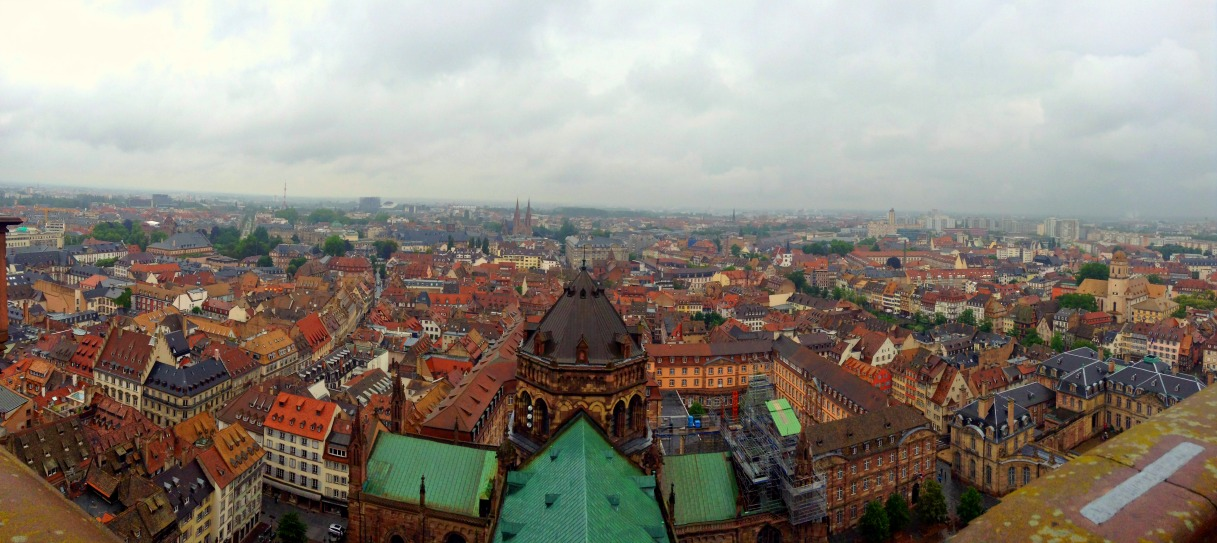 City view of Strasbourg, France from Notre Dame de Strasbourg