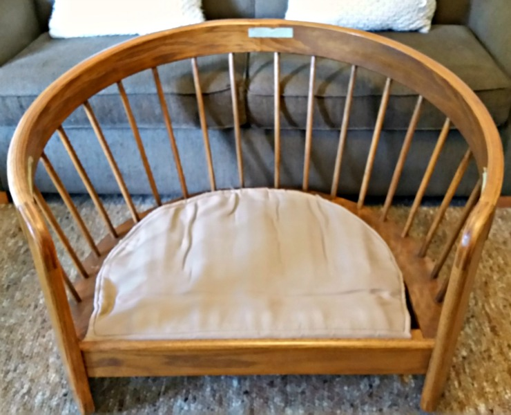 Solid oak bentwood chair frame