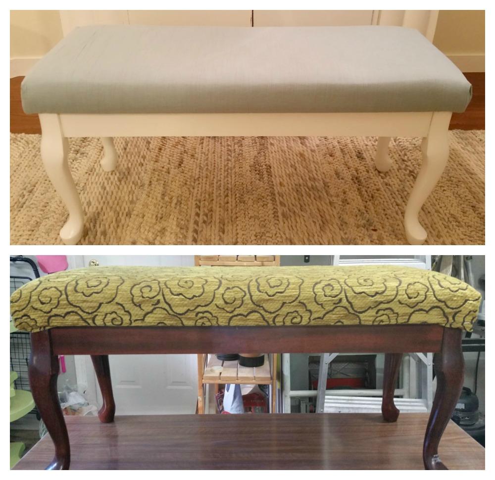 Queen Ann style bench given a modern update