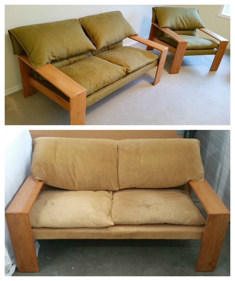 Total restoration of Danish 1980's Teak love seat and chair
