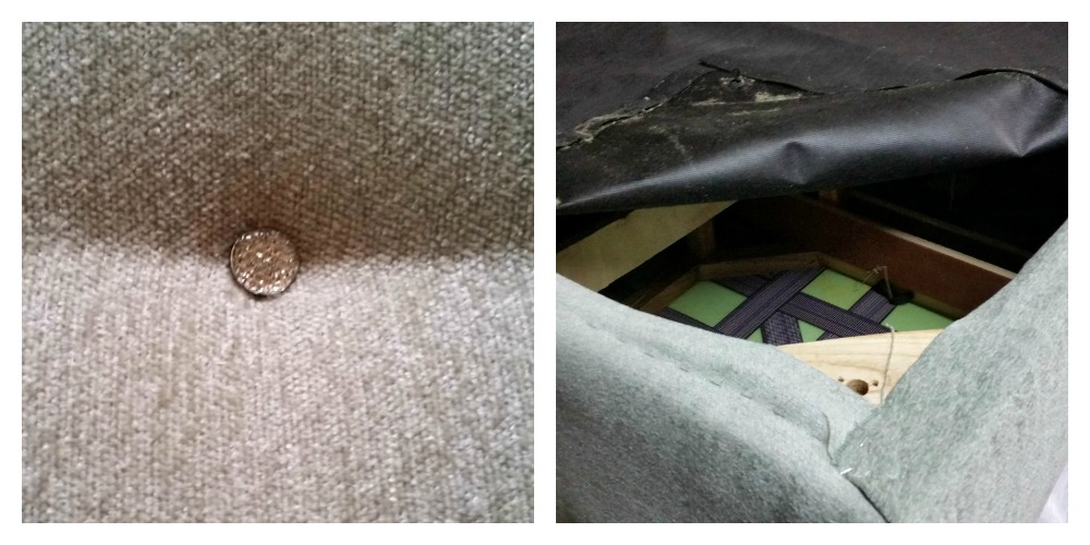 replacing dust cover on an upholstered ottoman