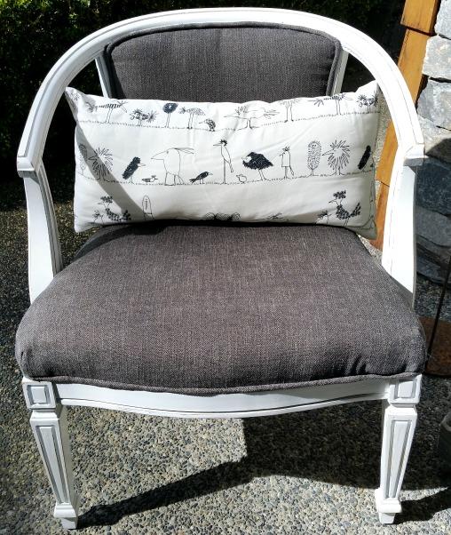 Vintage cane barrel chair