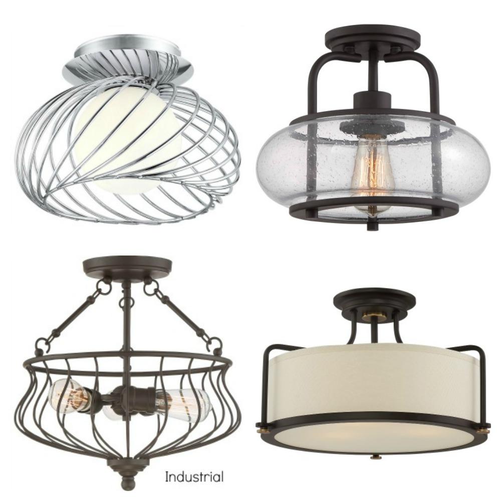 Industrial semi Flush mount Light fixtures