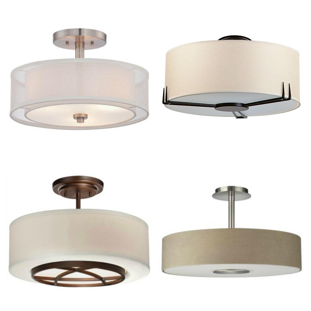 drum shade light fixtures