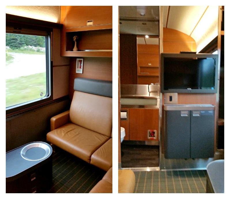 First class cabin on Via Rail Canada