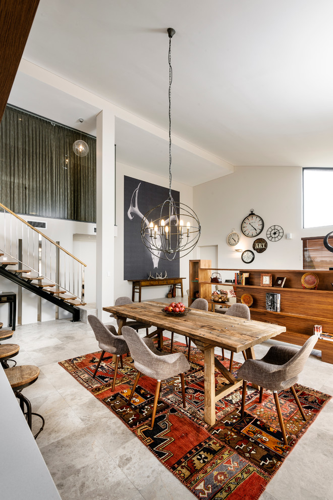 sublime-trestle-dining-table-decorating-ideas-for-dining-room-contemporary-design-ideas-with-sublime-colorful-rug-floating