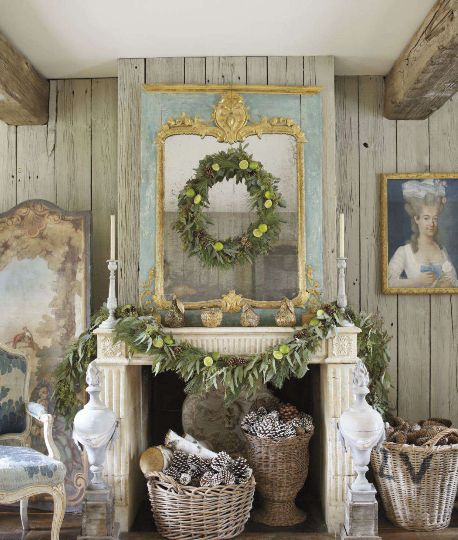 Country Christmas Mantels: A Christmas Mantel For Every Style