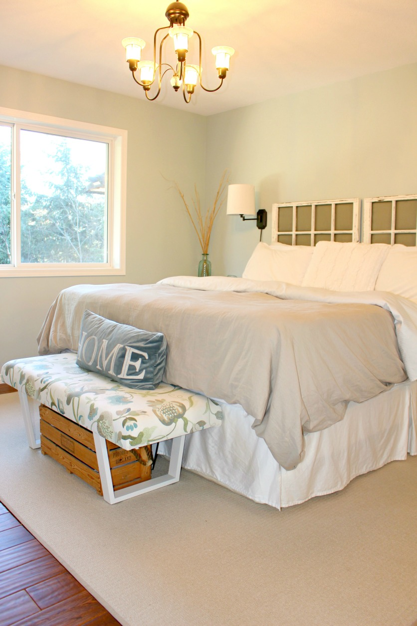 Master Bedroom in Benjamin Moore Smokey Green